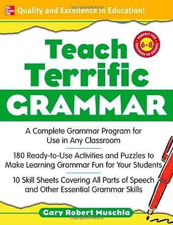 Workbook common core worksheets 4th grade math : Amazon.com: Teach Terrific Grammar, Grades 6-8: A Complete Grammar ...