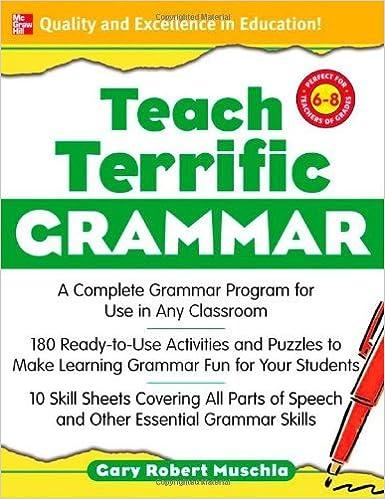 Workbook elementary art worksheets : Amazon.com: Teach Terrific Grammar, Grades 6-8: A Complete Grammar ...