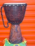 PRO 3 RING - 24'' X 14'' Djembe Deep Carved Hand Drum Bongo DRAGON - Model # 60m25 3R