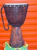 PRO 3 RING - 24'' X 14'' Djembe Deep Carved Hand Drum Bongo DRAGON - Model # 60m25 3R