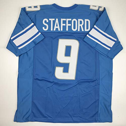 Unsigned Matthew Stafford Detroit Blue Custom Stitched Football Jersey Size XL New No Brands/Logos ()