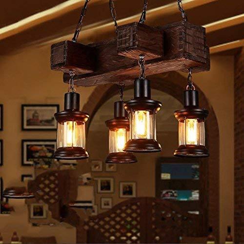 Amazon.com: AOLI The Lighting SAOLId Wooden Chandeliers, Retro ...