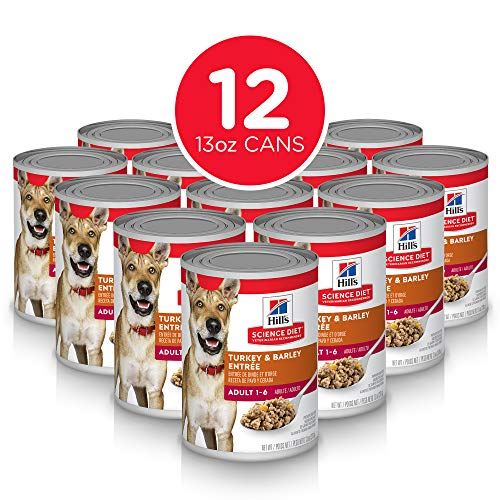 (Hill's Science Diet Wet Dog Food, Adult, Turkey & Barley Recipe, 13 oz Cans, 12-pack)