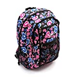 Chervi Black Pink Blue Hand Luggage Cabin Rucksack Backpack Bag Women Girl School Gym College Airline Flight
