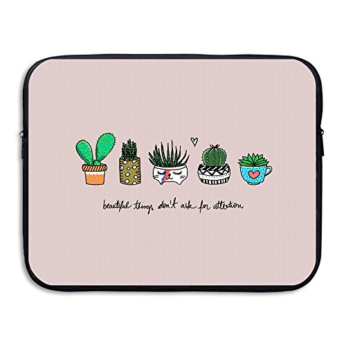 Business Briefcase Sleeve Cute Cactus Pattern Laptop Sleeve Case Cover Handbag For 15 Inch Macbook Pro / Macbook Air / Asus / Dell / Lenovo / Hp / Samsung / - Singapore Suit Diving
