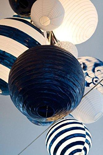 mit LED Papier Kugel-Laterne Lampenschirm aus Papier Dazone Lampion Party zur Dekoration wei/ß Haus 15cm chinesisch Weihnachten f/ür Hochzeit Set mit 10/St/ück