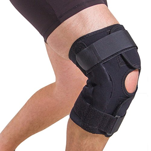 BraceAbility XXXL Plus Size Knee Brace | Bariatric Extra Large Knee Support for Big & Wide Thighs with Adjustable Hinges for Arthritis Joint Pain and Meniscus Tears (3XL)