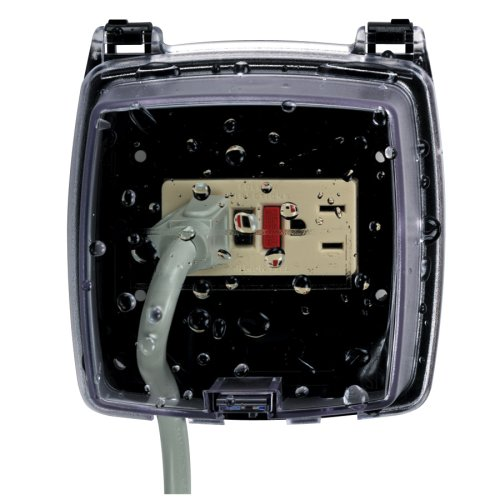 Intermatic WP1020C Weather Proof Two-Gang Plastic Receptical Cover