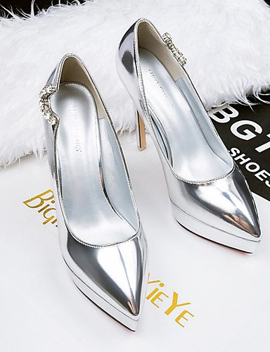 GGX/Damen Schuhe Fall Heels/spitz Zehen/geschlossen Zehen Clogs & Pantoletten Kleid Stiletto Ferse andere schwarz/braun/silber black-us7.5 / eu38 / uk5.5 / cn38