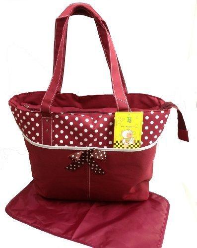 2 tlg bebé colour bolsa cambiador con accesorios bolsa de bolsa para pañales sucios bebé de viaje selección de colour marrón bordo