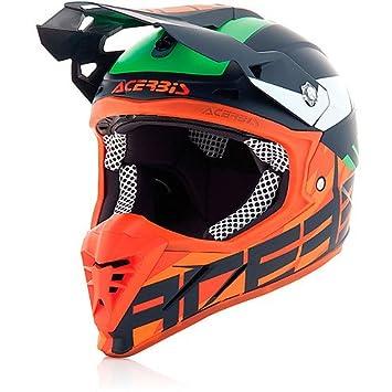 Casco de moto cross Enduro Acerbis Profile 3.0 BlackMamba azul / naranja fluorescente, talla XL