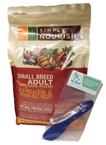 Simply-Nourish-Small-Breed-Adult-Dry-Dog-Food-Natural-Chicken-Brown-Rice-6lbs-with-Especiales-Cosas-Mixing-Spatula