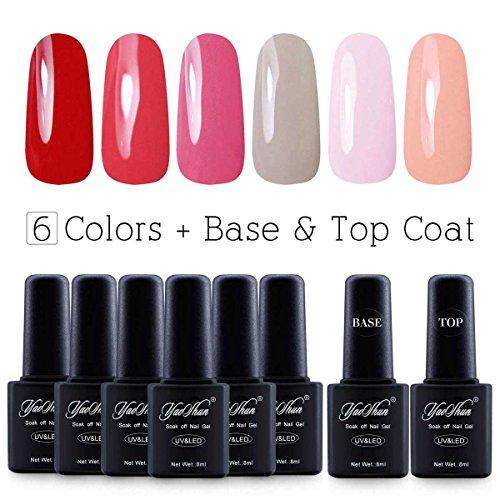 Nail Gel Brands: ★FREE SHIPPING★Yaoshun Brand 8ml 8Pcs/lot Soak Off UV Led