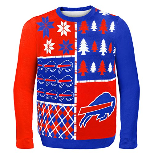Buffalo Bills Busy Block Ugly Sweater Large