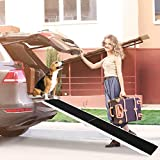 Heavy Duty Aluminum Dog Car Ramp for Large Dogs Up to 210Lbs, Portable Folding Skidproof Pet Ramps for Car/SUV/Truck