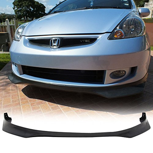 s 2007-2008 Honda Fit | EVO Style Black PU Front Lip Finisher Under Chin Spoiler Add On by IKON MOTORSPORTS ()