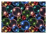 Bubbles Rainbow Multi - 2'x3' Custom Stainmaster Premium Nylon Carpet Area Rug ~ Bound Finished Edges