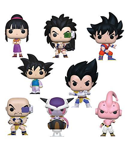 Funko Pop! Animation: Bundle of 8: Dragonball Z - Nappa, Vegeta, Goku, Radditz, Chi Chi, Goten, Frieza and Kid Buu