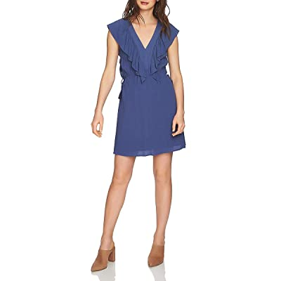 1.State Women's V-Neck Ruffle Edge Dress with Ties at Amazon Women's Clothing store
