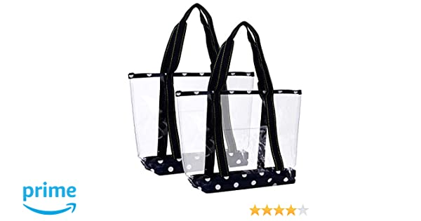 Amazon.com  VENO 2 Packs Large Clear Bag c5699ebd72d9f