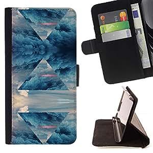 Momo Phone Case / Flip Funda de Cuero Case Cover - Pirámide de Arte Cielo Símbolo Universo Mágico - Sony Xperia M2
