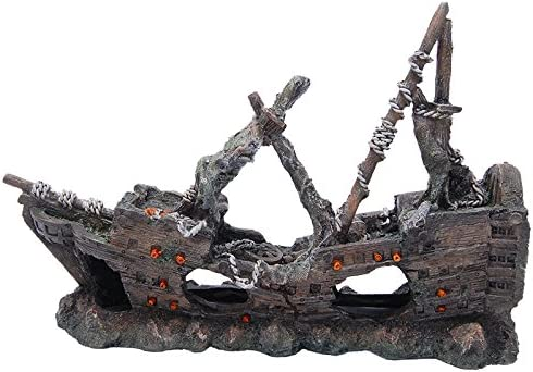 All Pond Solutions Pirate Ship Fish Tank Ornament