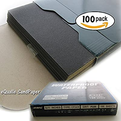 """SandPaper Pack of 100 Sheets 9""""x11"""" Abrasive Silicon Carbide Waterproof C-weight Kraft Electrostatic Coated"""