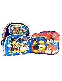 "Paw Patrol Some Work! 16"" Boys School Backpack Plus Lunch Bag Set-BLUE"
