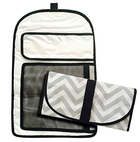Chevron Baby Infant Newborn Diaper Bag Changing Pad Mat Kit Unisex