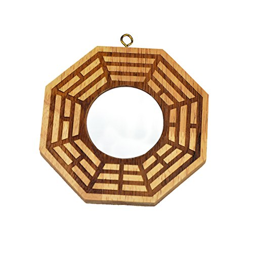Feng Shui Peach Wood Bagua Mirrors Pakua 4 Inch W Fengshuisale Red String Bracelet (Concave)