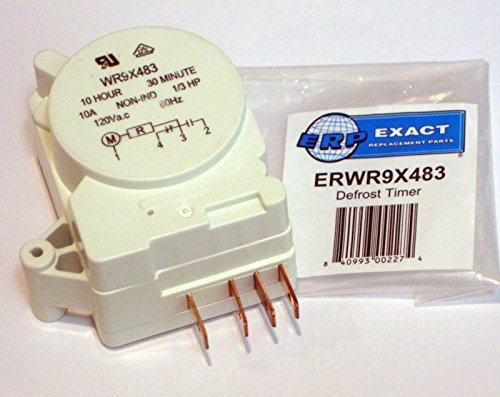 ERP WR9X483 for GE Refrigerator Defrost Timer - Refrigerator Ge Defrost Timer Control