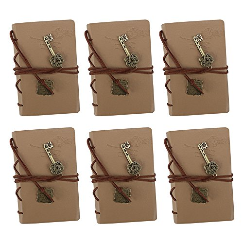 (Mini Softcover Travel Journal with Leather Accents and Medallions by Studio Nouveau (6-Pack))