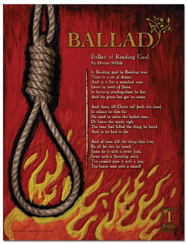 ECHO-LIT Ballad from Poetry Forms and Genres. English Literature Poster featuring The Ballad of Reading Gaol by Oscar ()