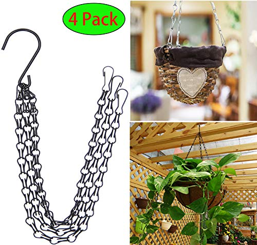 - Hanging Chain Hanging Basket Chain Flower Pot Chain 3 Point Garden Plant Hanger Chain 23.5 Inch 4Pack Hanging Flower Basket Galvanized Replacement Chain. (Hanging Chain - 4 Pack)