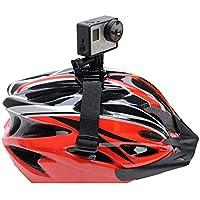 Knmaster Tüm Aksiyon Kameralara Uyumlu Bisiklet Kask Aparatı Aksiyon Kamerasını Kaskta Kullanabilmek Için Aparat Unisex, Siyah, Tek Beden