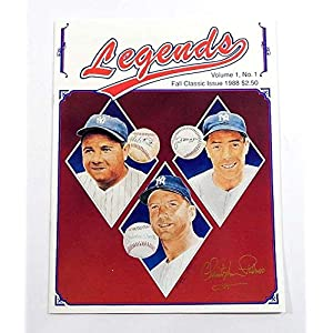 1988 Legends Magazine Fall Classic Issue Vol 1 No 1 Signed By Chrisopher Paluso Autographed MLB Magazines