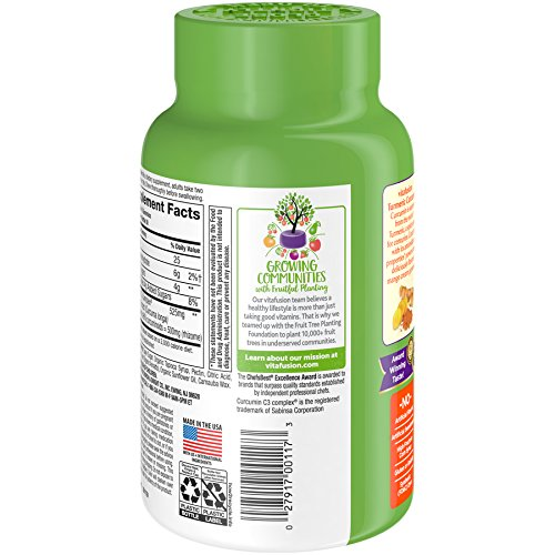 Vitafusion Turmeric Curcumin Gummy Supplement, 60 ct