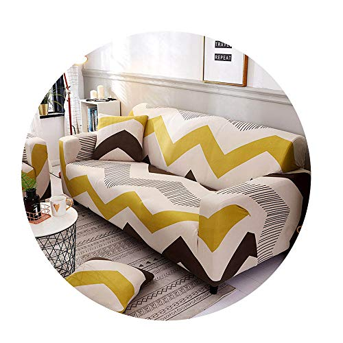 ZFADDS New Spandex Slipcover Sofa Elastic Geometric Sofa Cover Universal Couch Cover Sofa Covers for Living Room,Color 3,Cushion Cover 2Pcs