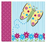 MCS MBI 13.5x12.5 Inch 3-Raised Character Scrapbook Album with 12x12 Inch Pages, Butterfly (848134)