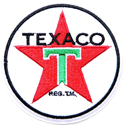 TEXACO Motor Oil Gas Gasoline Vintage Tin Sign Logo Racing Patch Iron on Applique Embroidered T Shirt Jacket Costume
