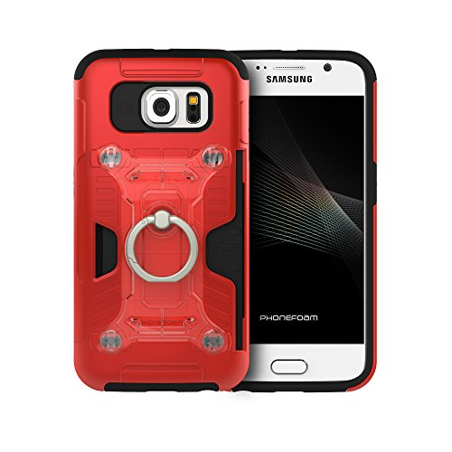 Phonefoam Fury 3 Cards Snap Ring Case for Samsung Galaxy S6 - Import It All