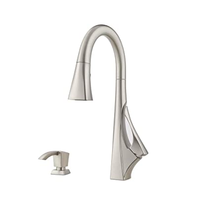 pfister venturi single handle pull down sprayer kitchen faucet with spot defense in stainless - Pfister Kitchen Faucets