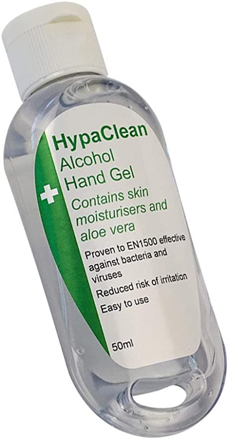 Hypaclean Alcohol Hand Sanitiser Gel 50 Ml Travel Size Amazon