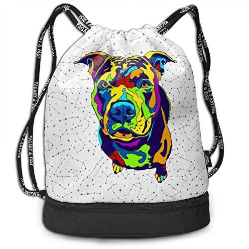 Multi-Color American Pit Bull Drawstring Bag Multifunctional String Backpack Custom Cinch Backpack Rucksack Gym Bag