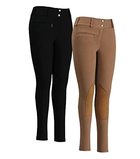 1930s Costumes- Bride of Frankenstein, Betty Boop, Olive Oyl, Bonnie & Clyde TuffRider Womens Cotton Lowrise Wide Waistband Breeches (Long) $44.95 AT vintagedancer.com