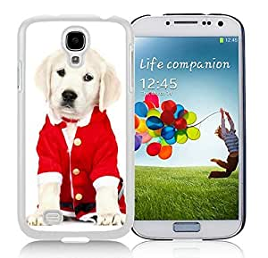 Customized Samsung S4 TPU Protective Skin Cover Christmas Dog White Samsung Galaxy S4 i9500 Case 39