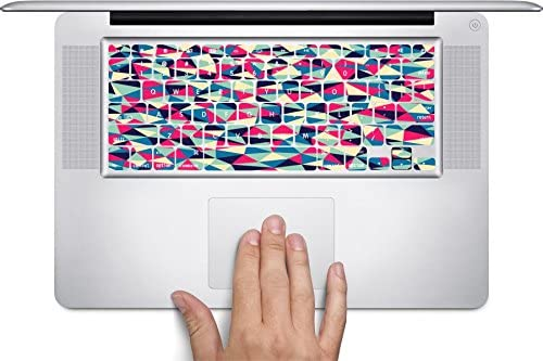 Geometric Colorful Triangles Blue Pink Aqua Orange Keyboard Decals by Debbies Designs for 12 inch MacBook