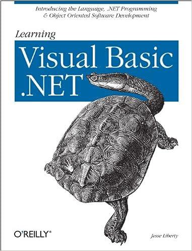 Amazon com: Learning Visual Basic  NET: Introducing the