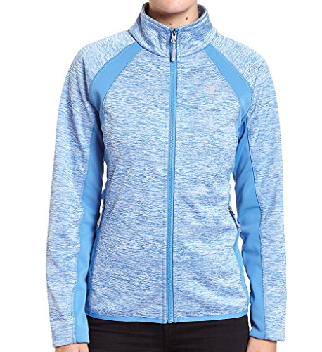 - Champion Women's Knit Softshell Jacket, Windchill Blue, Medium