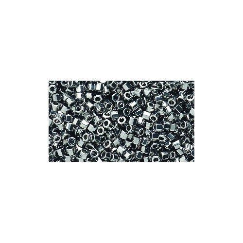 Miyuki Delica Hex Seed Bead 11/0 DBC0021, Metallic Steel, 9-Gram/Pack ()